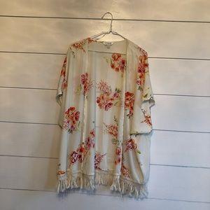 Charming Charlie Tops - Floral Kimono